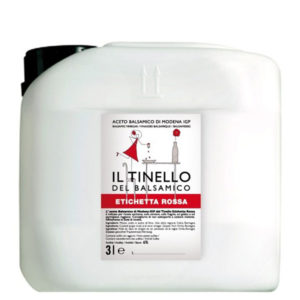 L'Aceto balsamico di Modena IGP del Tinello Etichetta Rossa – 3 l